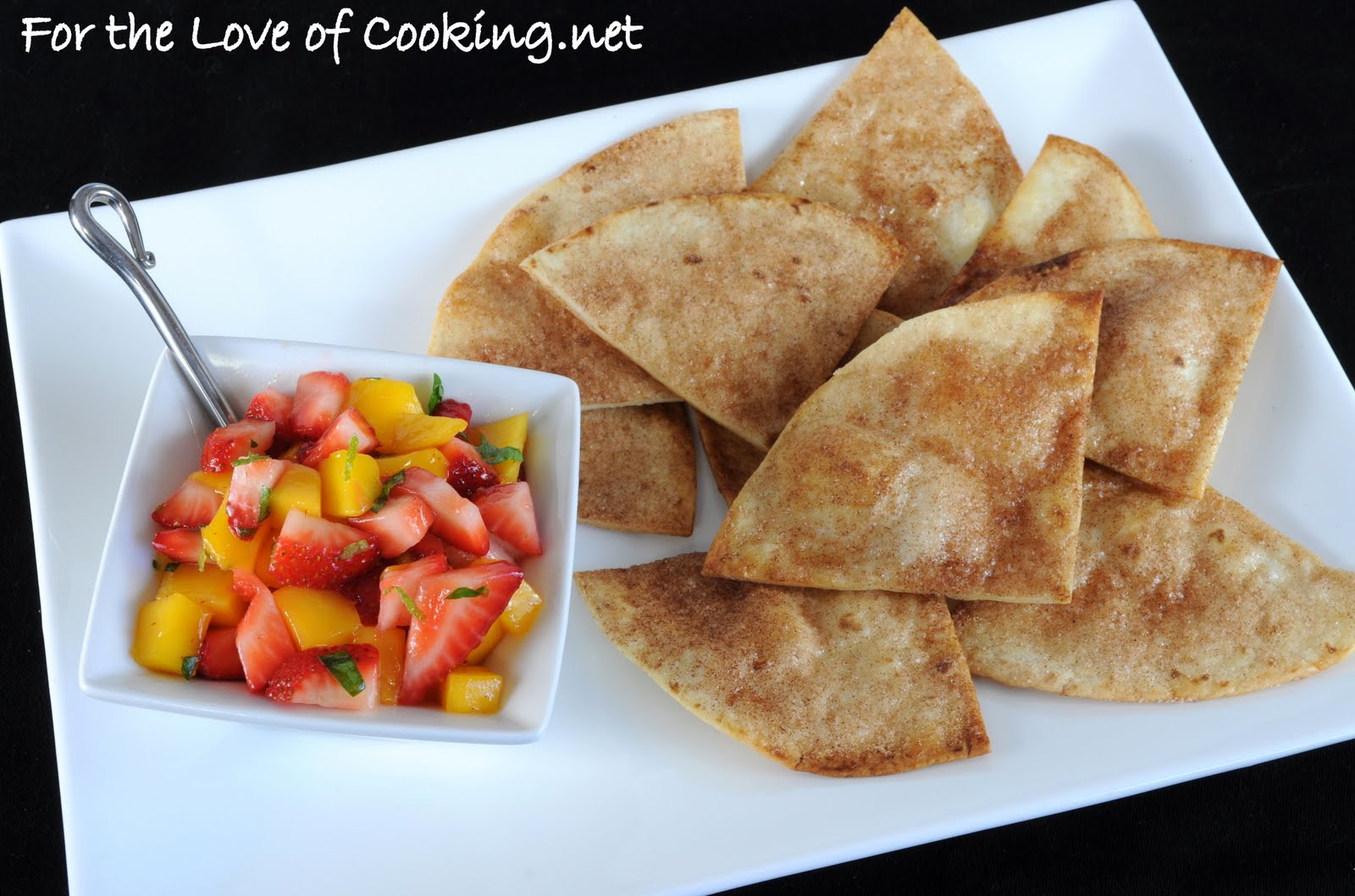 ... the Love of Cooking: Strawberry and Mango Salsa with Cinnamon Chips