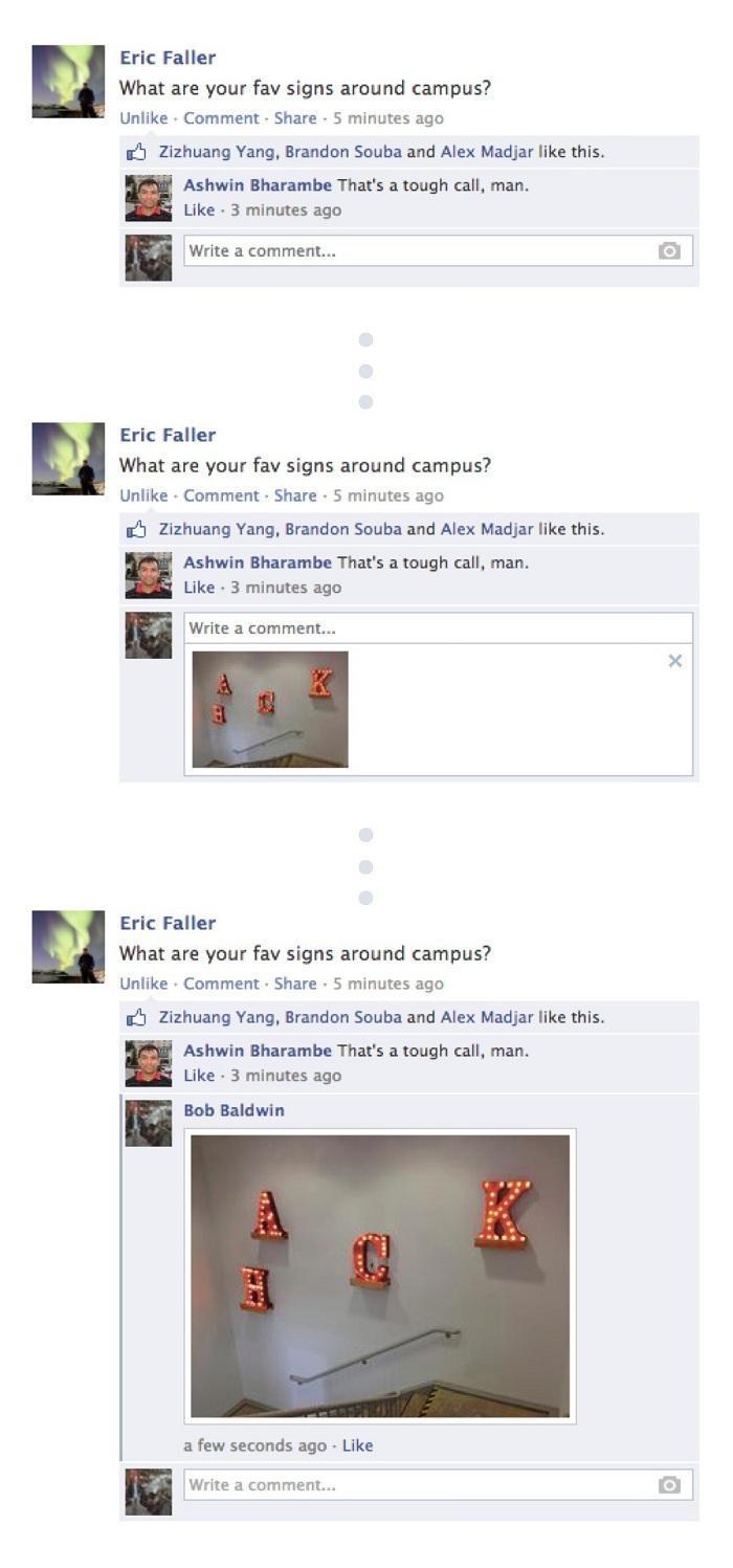 Facebook'ta Yorumlara Resim Ekleme Özelliği