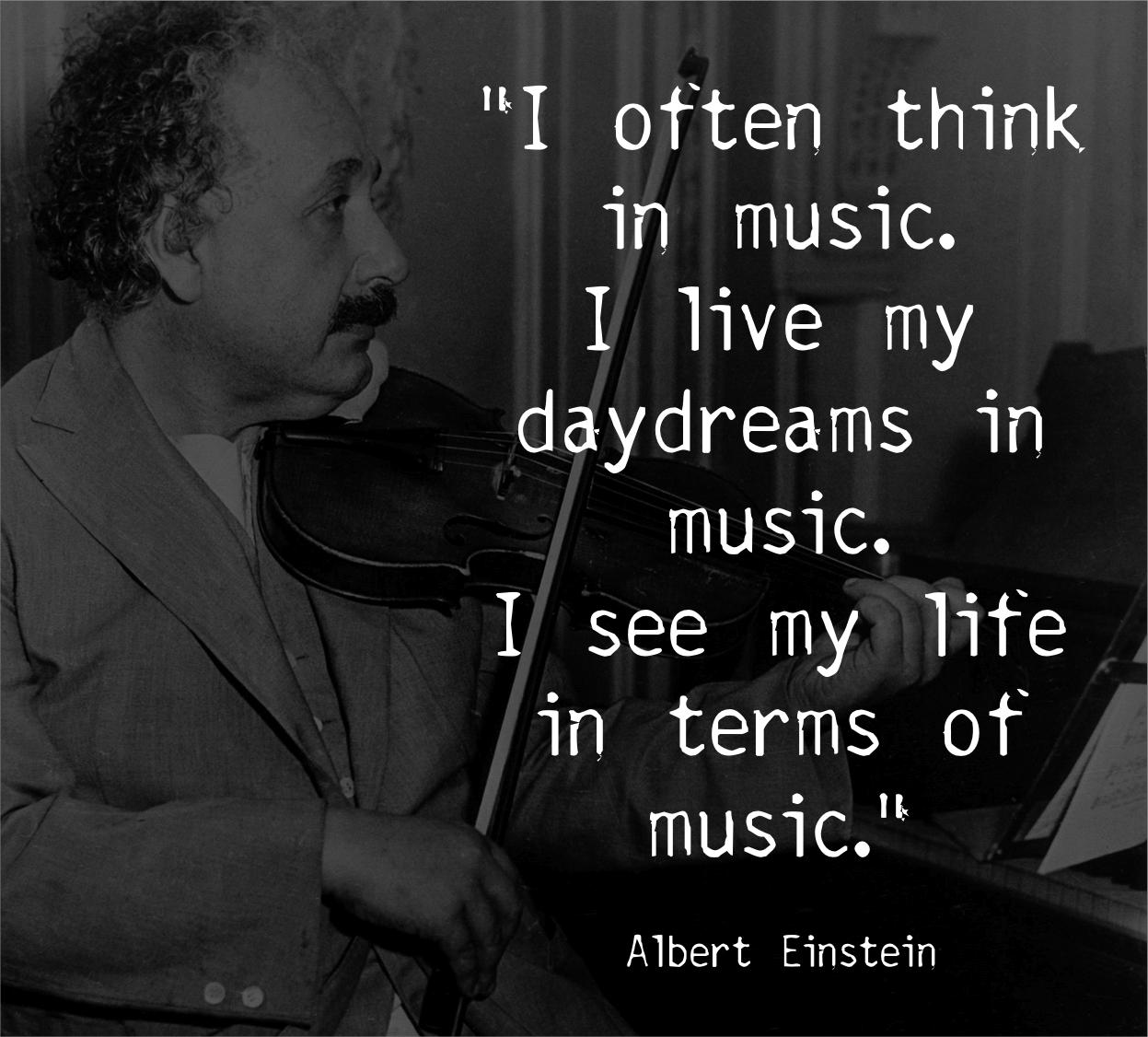 Albert Einstein Quotes About Music
