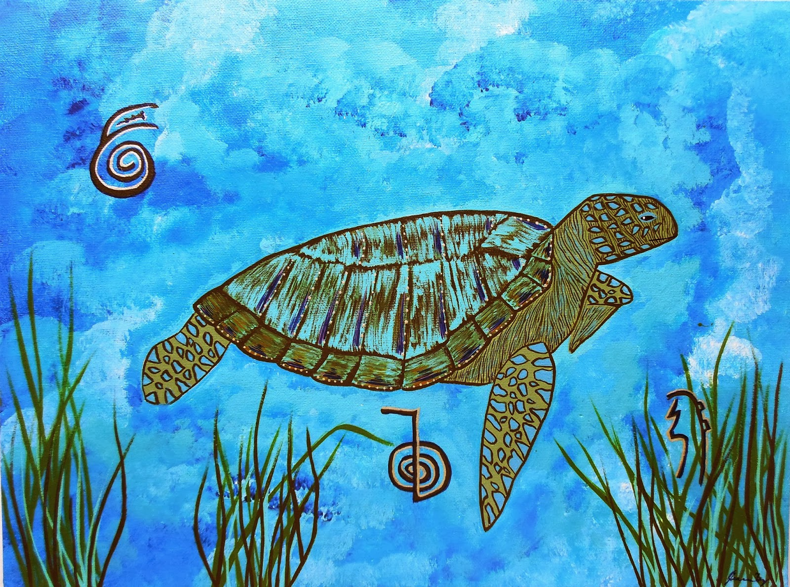 Conscious art studios emotional healing with the sea turtle totem emotional healing with the sea turtle totem and reiki symbols by jeanne fry buycottarizona Choice Image