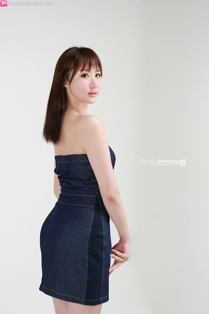 1 Yeon Da Bin in Blue Denim-Very cute asian girl - girlcute4u.blogspot.com