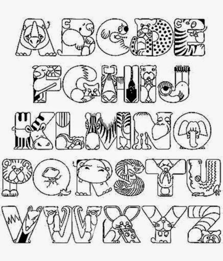 Easy Alphabet Coloring Pages Coloring Coloring Pages