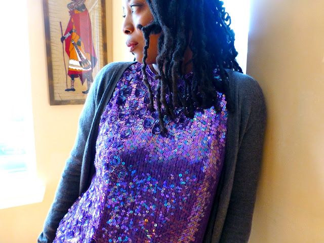 Cardigan and Sequins