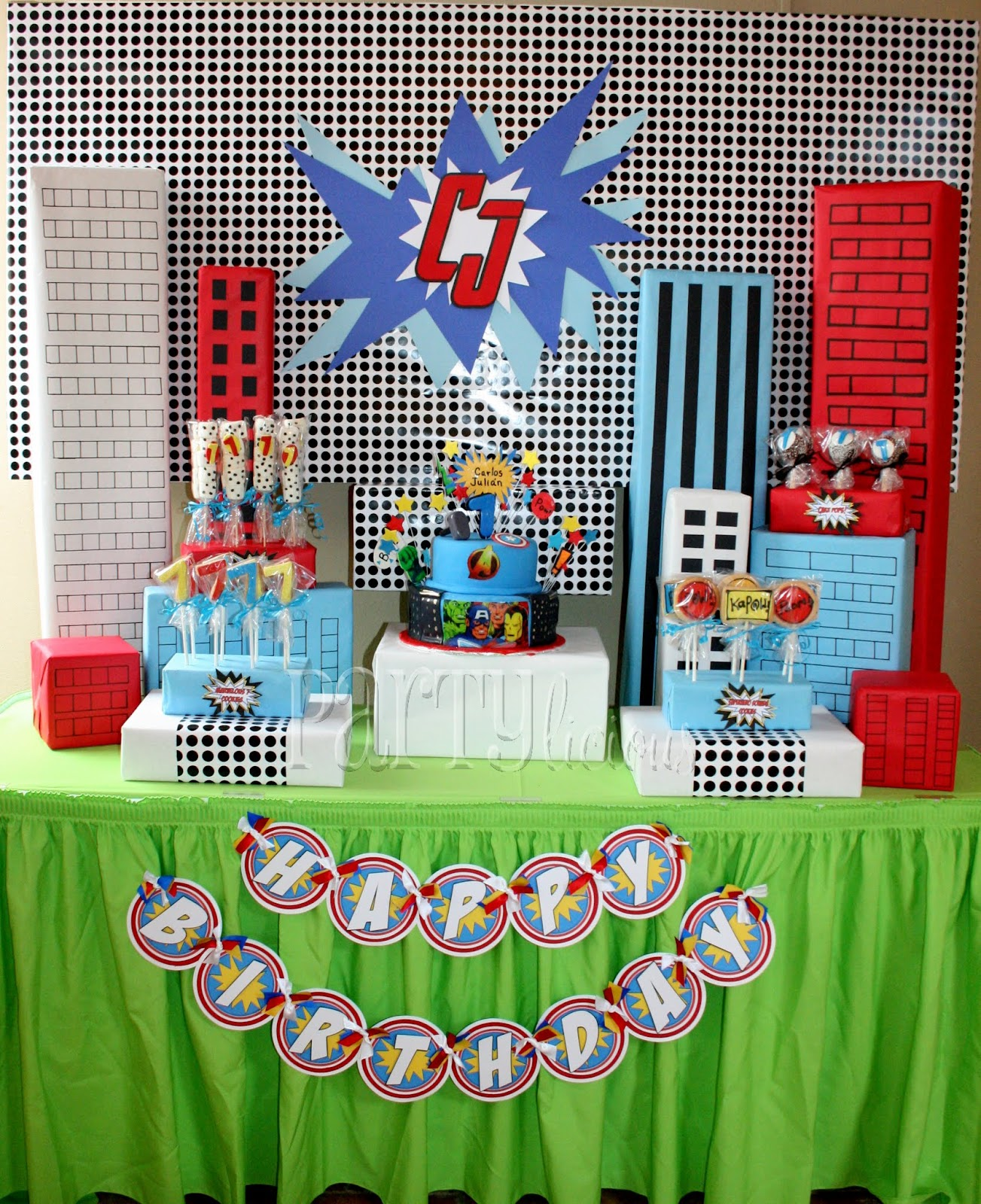 Partylicious Events PR: Birthday: {Marvelous Superhero