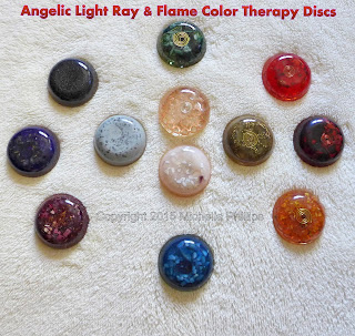 Angelic Healing Light Ray and Flame Color Therapy Discs