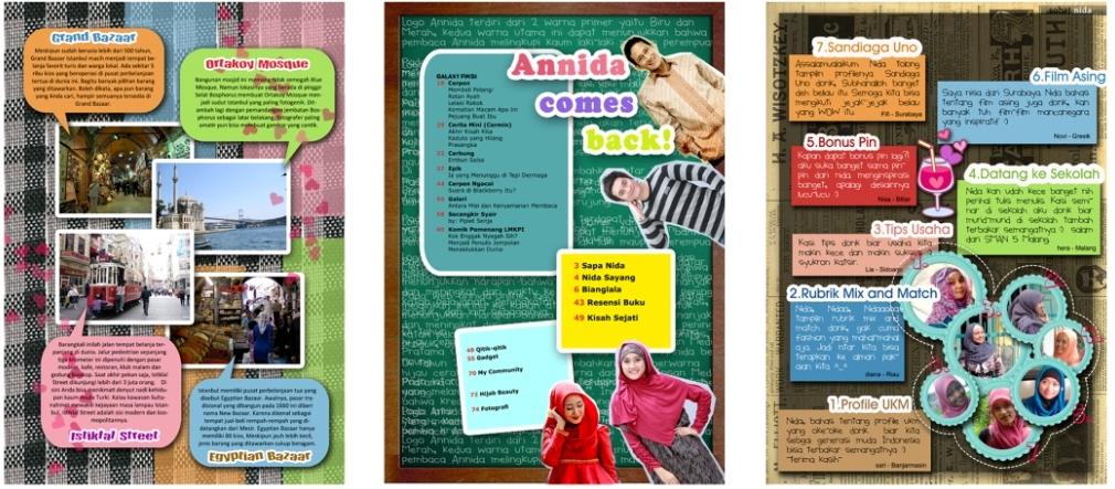 Contoh Layout Majalah Layout Majalah Annida