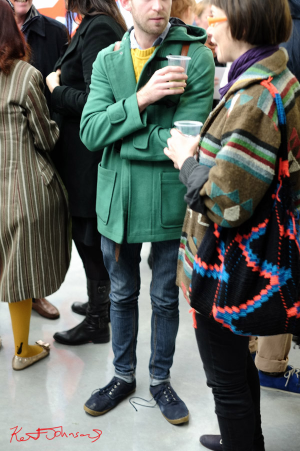 Green Duffel coat, mustard cable knit jumper, jeans and canvas shoes - South American weave jacket and bag with black jeans - colours of Winter.