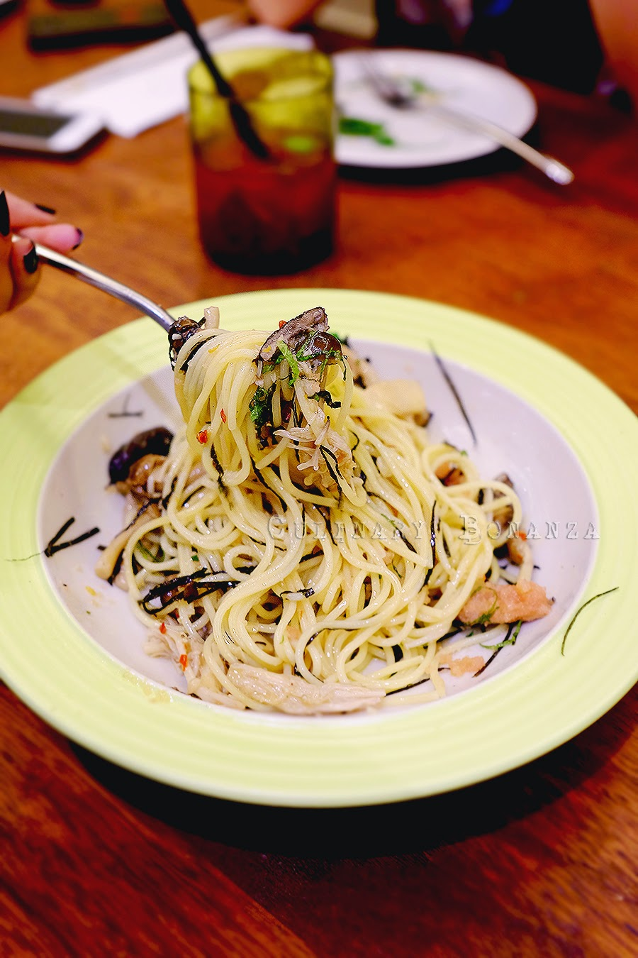 Fettucine Japanese Mushrooms Cream - assorted Japanese mushrooms: maitake, king oyster, champignon & shimeji