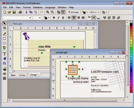 10 software pembuat desain kartu nama terbaik 10terbaik decadry business card software reheart Gallery