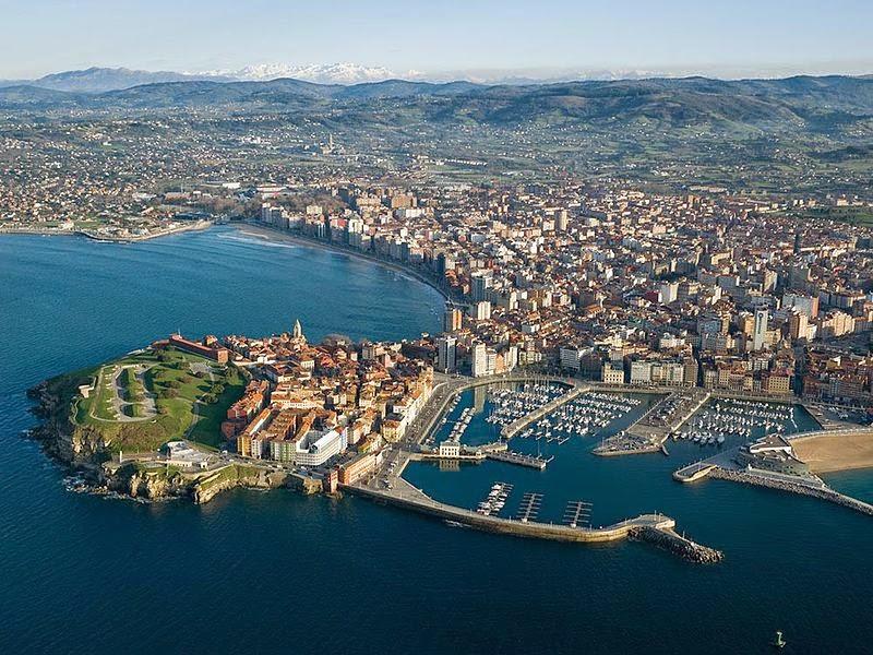 Panorámica de Gijón, Asturias