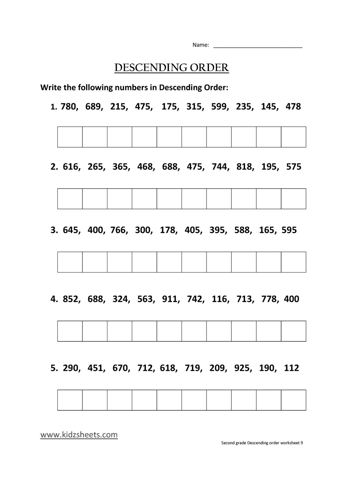 Second Grade Worksheets, Free Worksheets, Kids Maths Worksheets ...