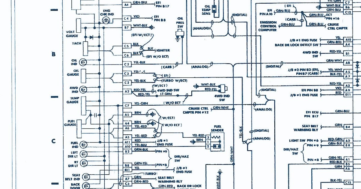 Forum Diagram  1987 Toyota Pickup 4wd 22r Engine Wiring Diagram