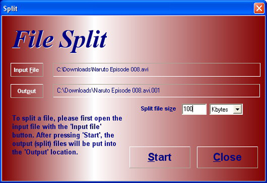 HJSplit File Split