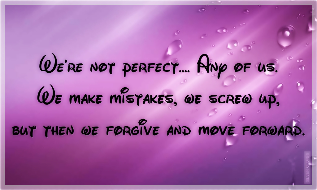 We\'re Not Perfect - SILVER QUOTES