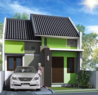 kombinasi cat rumah minimalis warna hijau