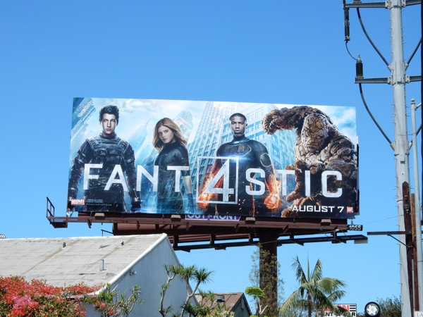 Fantastic 4 movie reboot billboard