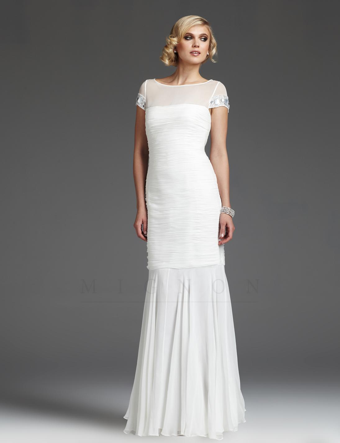 WhiteAzalea Simple Dresses Cap Sleeve Wedding Dress