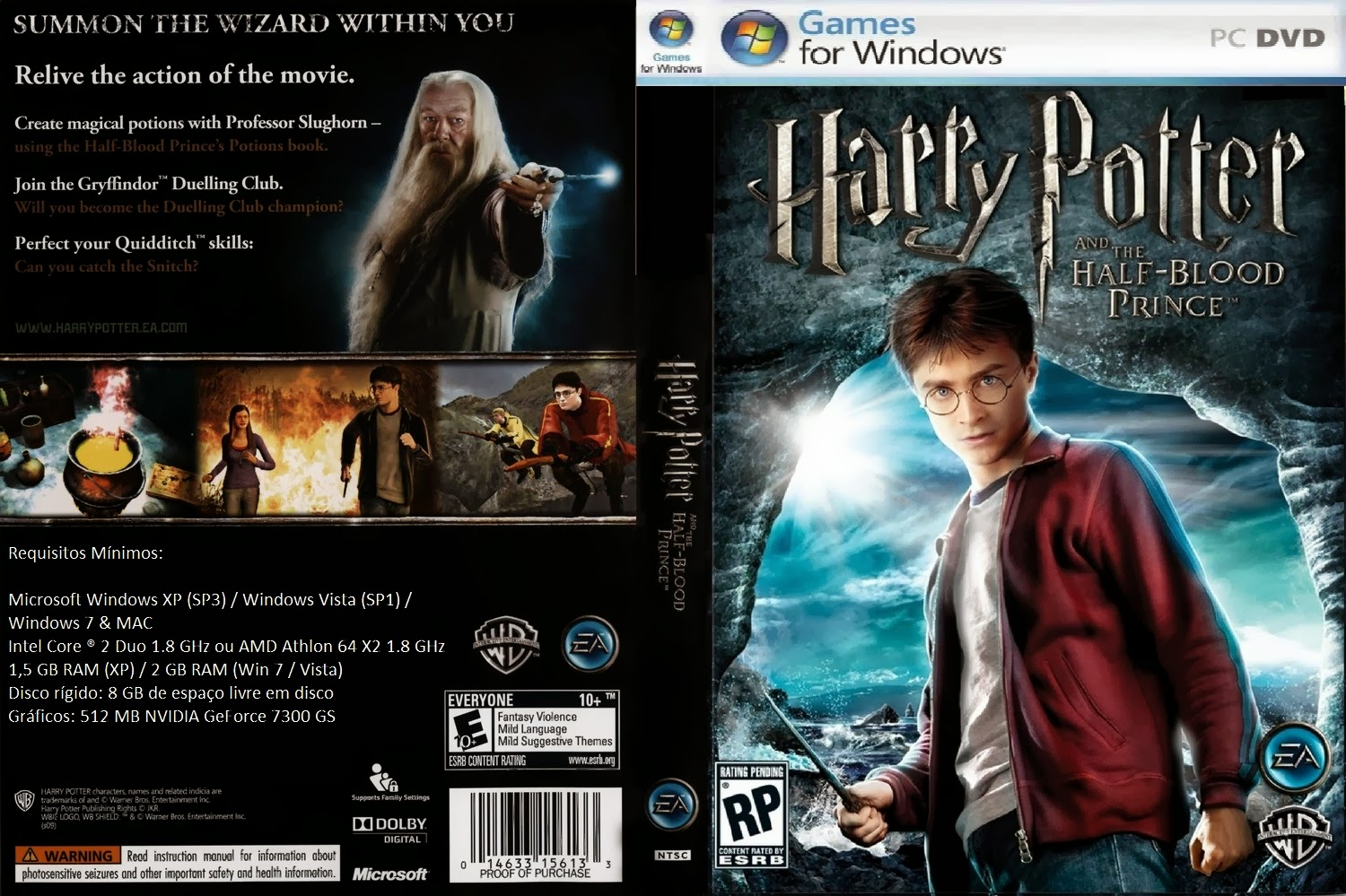 Harry Potter e o Enigma do Principe PC DVD Capa