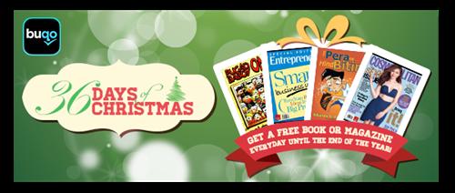 free books, free magazines, freebie, giveaway, buqo, Christmas gift
