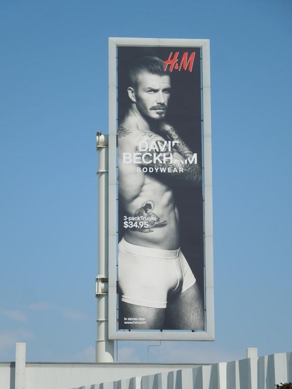 David Beckham Bodywear billboard Sunset Strip