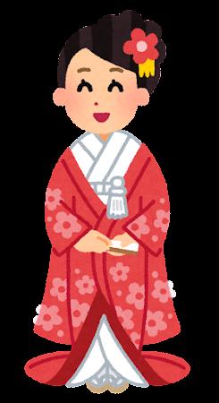 新婦・花嫁のイラスト(色打掛)