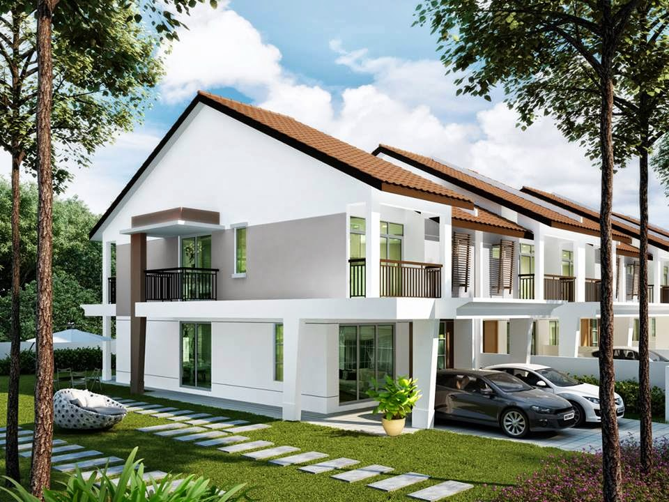 Pelaburan hartanah august 2013 for 3 storey terrace house design