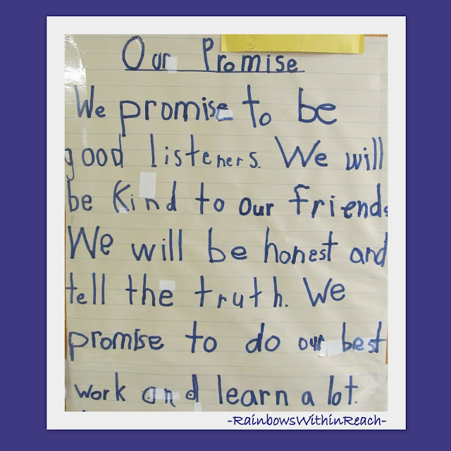 First Grade Promise for Positive Behavior, Classroom Rules