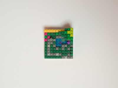 ナノブロックで作った庭