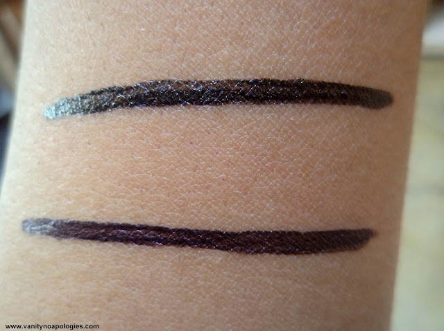 shimmer black liquid eye liner