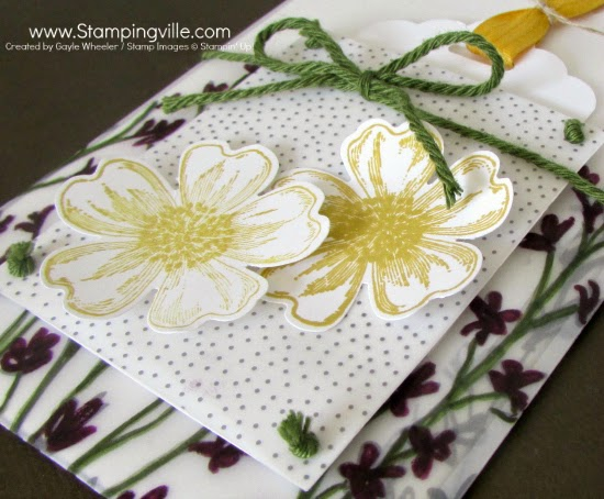 No fussy cutting required! The Pansy Punch crops these flowers perfectly. #cardmaking #papercrafts #Stampinup