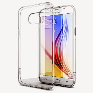 Galaxy S6 Case, Enther® [Ultimate Cushion]Slim Scratch / Dust Proof Hybrid Transparent Clear Case with Shock Absorb Trim Bumper - Authentic Retail Packaging - for Samsung Galaxy S6