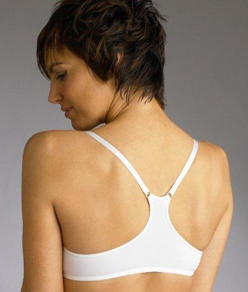 white elegant racerback bra