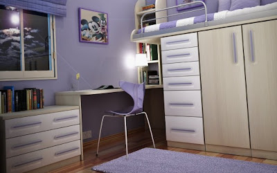 Cool Teen Purple Dorm Room Ideas
