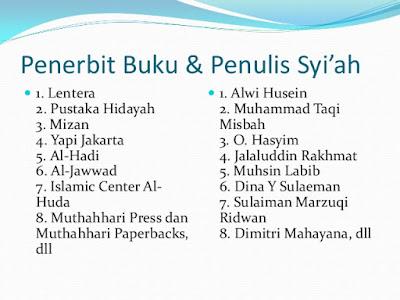 Apa saja Daftar buku-buku syiah dan penerbitnya