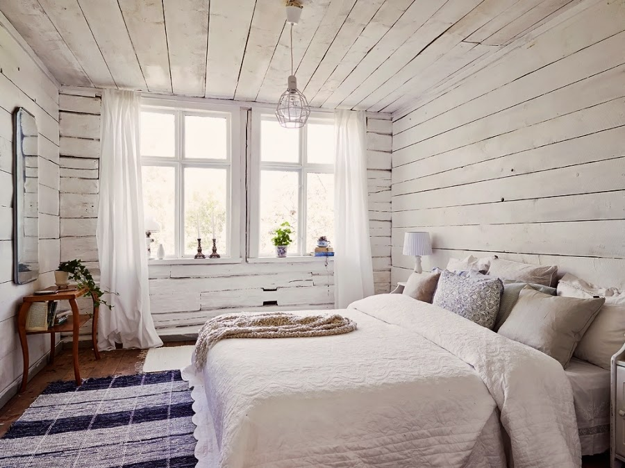 dom, wystrój wnętrz, wnętrza, home decor, styl skandynawski, białe wnętrza, shabby chic, sypialnia, łóżko