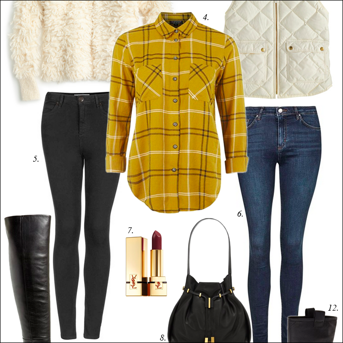 riding boots, skinny jeans, plaid, fall, mustard yellow, burgundy