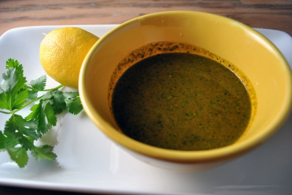 Grilled Lemon-Cumin Chicken With Charmoula Sauce Recipe ...
