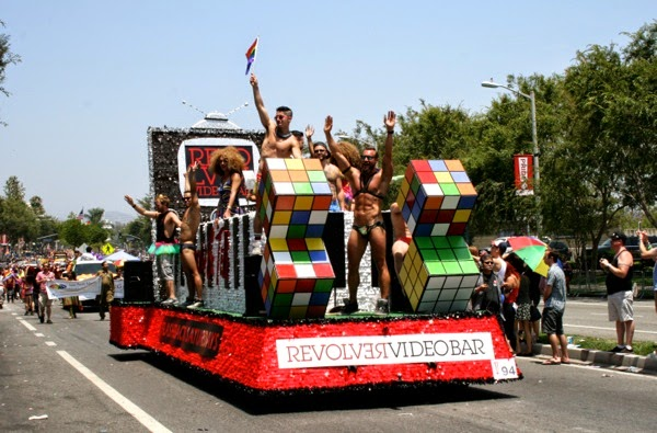 Revolver bar float West Hollywood Pride Parade 2014