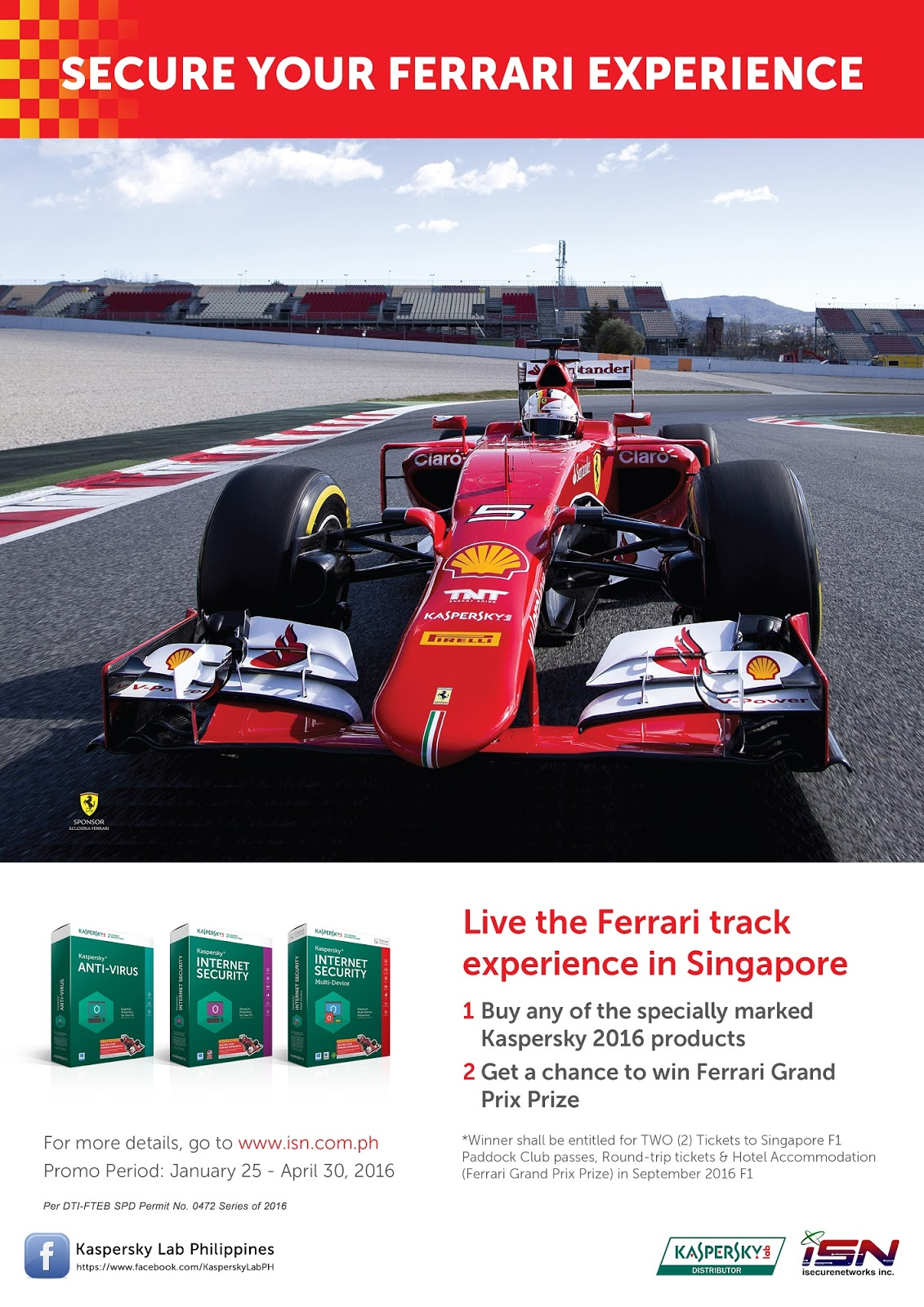 Secure your Ferrari Experience Competition