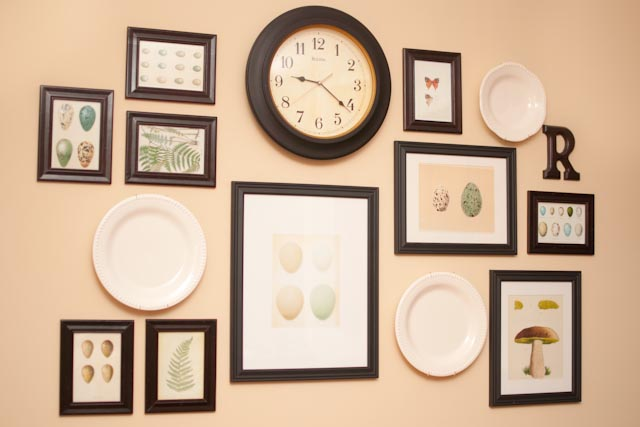 Kitchen Gallery Wall Old Frames New Free Art Yay
