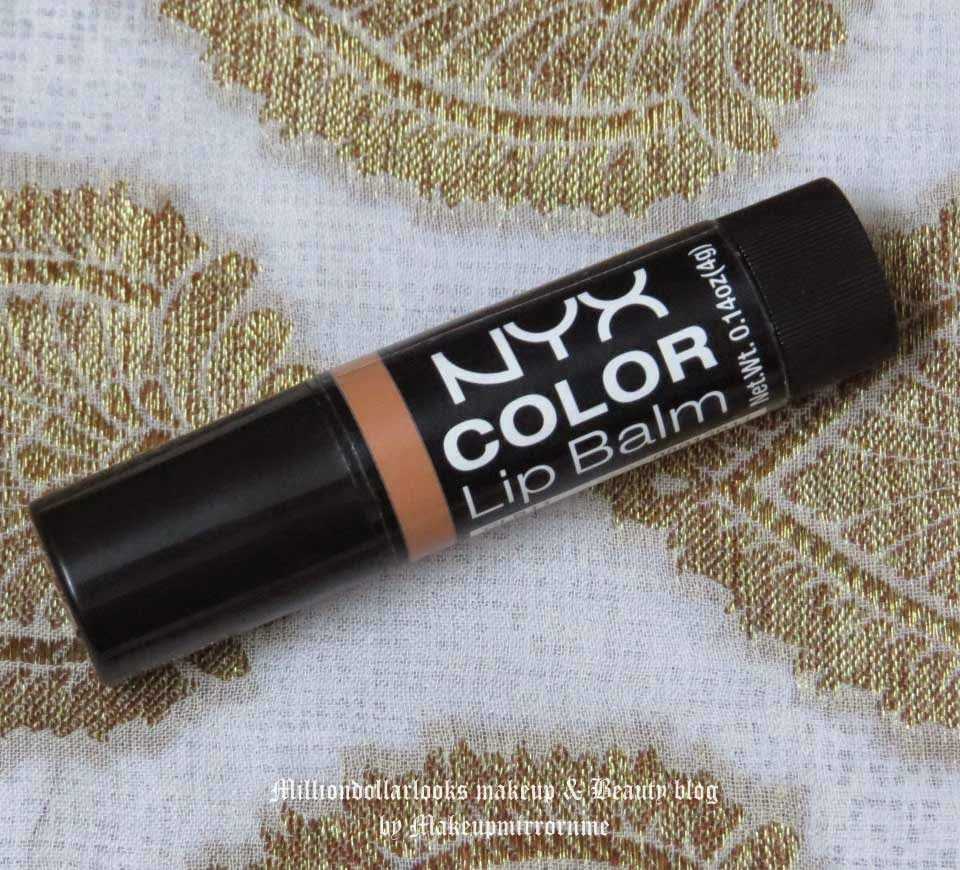 NYX Color Lip Balm CB11 Dankie Review, Pictures & Swatch, Best affordable lip balms in India, Nyx color lip balms, Nyx color lip balm shades available and swatches, Milliondollarlooks makeup and beauty blog, Indian beauty blog, Indian makeup blog, Lovely lips, Makeup and beauty blog India, Top Indian beauty blogs