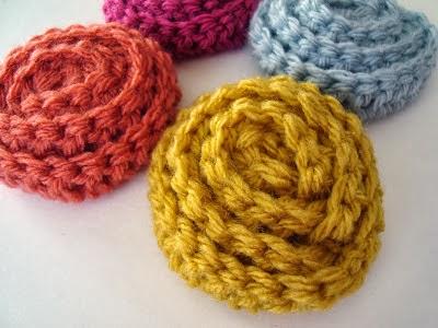 free crochet pattern no sew rosette