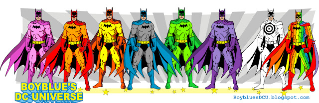 The Rainbow Batmen and Target Batman in Detective 241