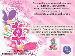 concurso cultural coats corrente em parceria com Blog da Amiltis