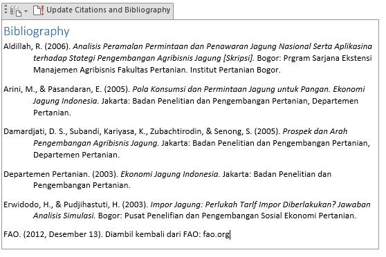 output daftar pustaka
