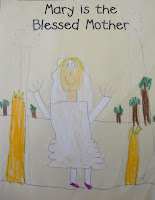 FREE drawing page for learning about the Blessed Mother