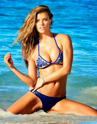 Nina Agdal Beach Bunny Bikini Spring 2015 Photo Shoot
