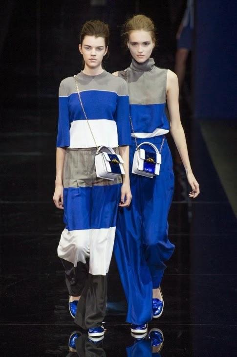 أرماني يبحر بالأزرق في أسبوع الموضة في ميلان 2014 -2015, أزياء أرماني 2015, أسبوع الموضة في ميلان 2015,