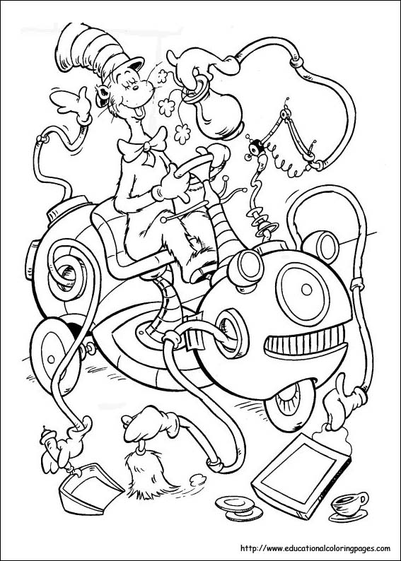 coloring pages of dr seuss - photo#2