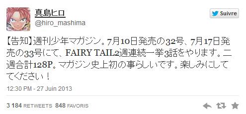 Fairy Tail, Hiro Mashima, Manga, Actu Manga, Weekly Sh�nen Magazine, Pika Edition,